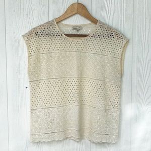 Madewell's Broadway & Broome Sleeveless Lace Top